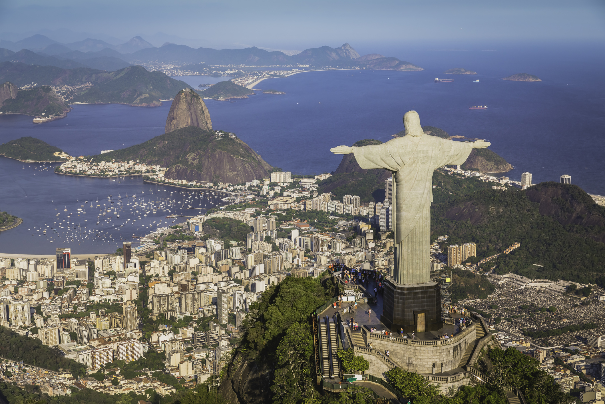 Christ the Redeemer statue is a popular site of Rio de Janeiro.