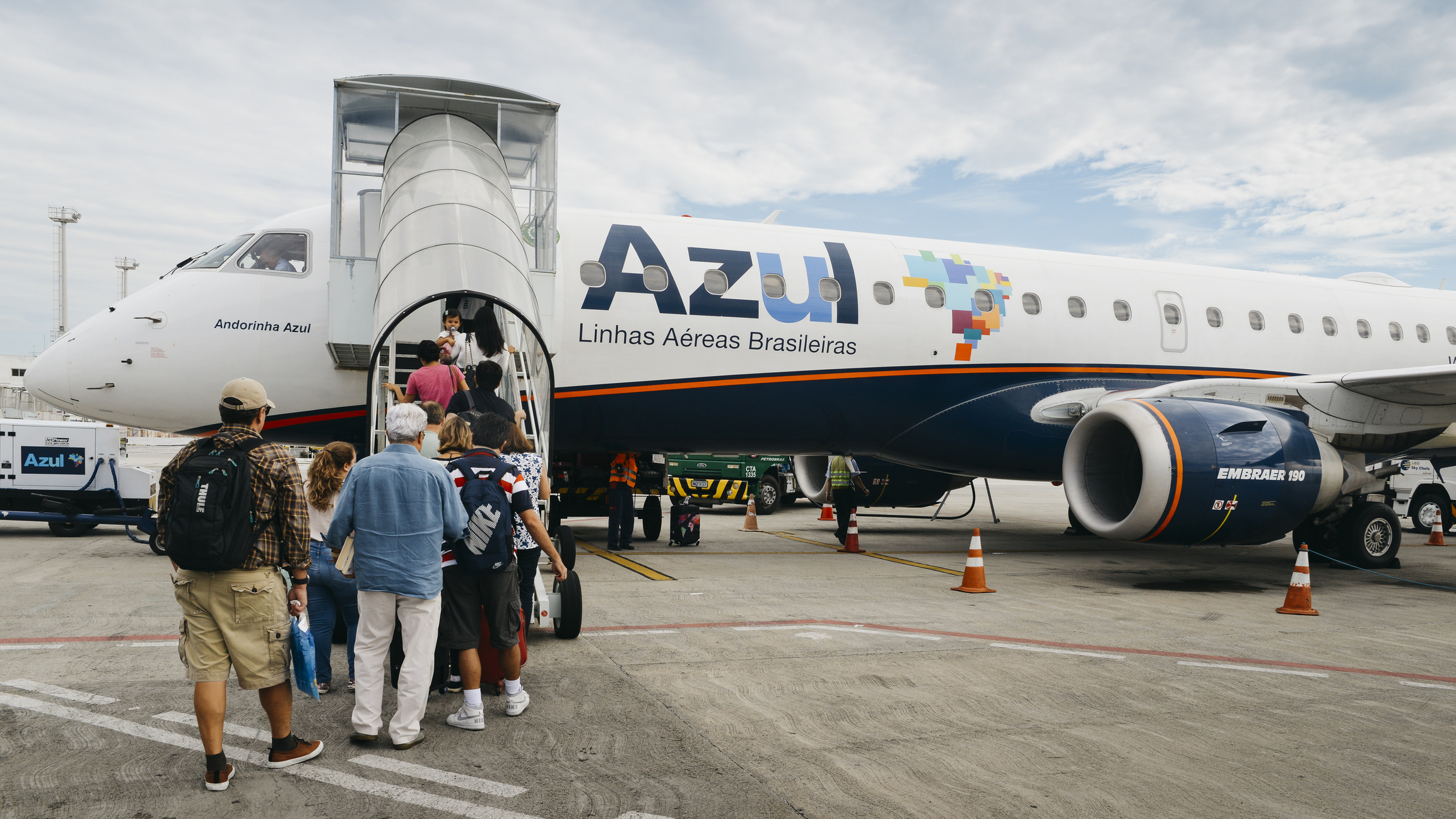 Santos Dumont Airport is a focus city for Azul Brazilian Airlines.